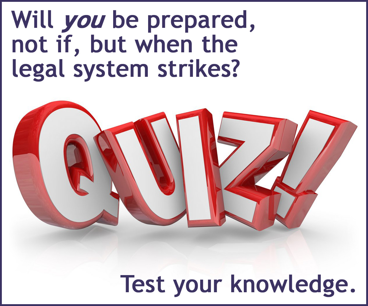 Test your knowledge of our corrupt legal system with this short 12-question quiz